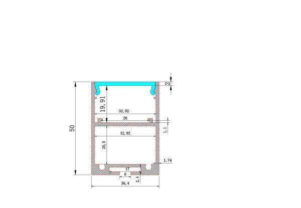 AEX -45 - Aluminium Strip profile