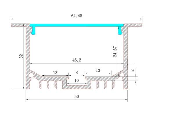 AEX -53 - Aluminium Strip profile