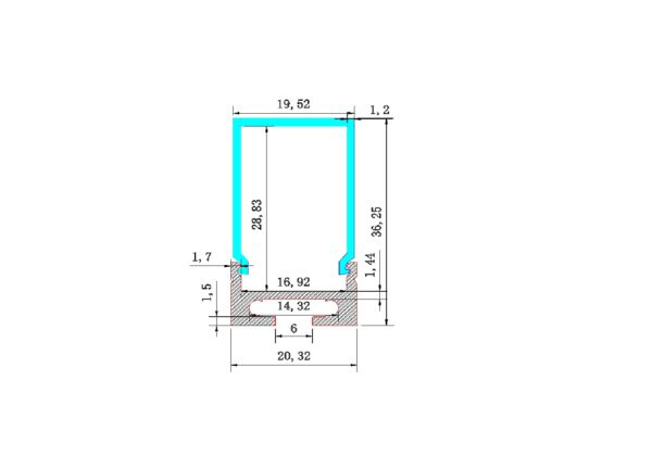 AEX -58 - Aluminium Strip profile
