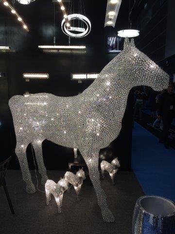 Horse sculpture at lighting fair