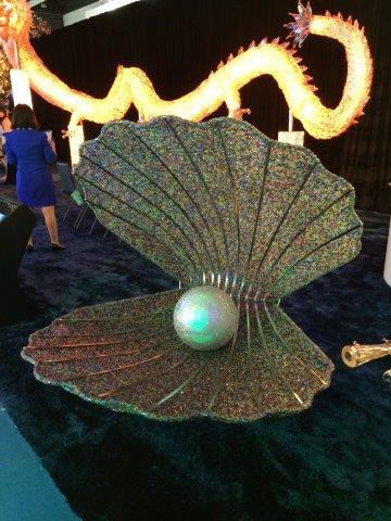 Pearl sculpture at lighting fair