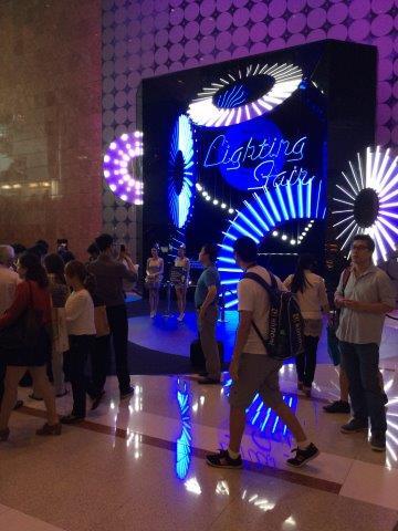 LED display at lighting fair