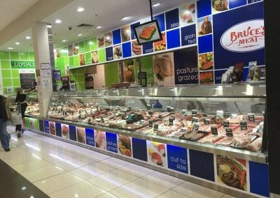 Bruces Meat and Poultry LED lighting